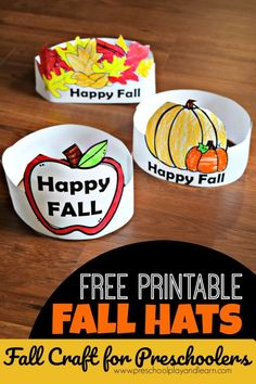 Printable Hats Fall Craft for Preschoolers super cute activity perfect for fall with toddler, prek, kindergarten age kids preschool fall - cakerecipespins. Fall Arts And Crafts, Easy Fall Crafts, K Crafts, Fall Preschool Activities, Toddler Preschool, Preschool Lessons, Preschool Learning, Fall Crafts For Toddlers, Autumn Art Ideas For Kids