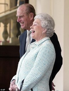 Having a laugh: Prince Philip would do his best to make The Queen feel comfortable during her Christmas Day messages