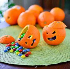 Pumpkins with oranges