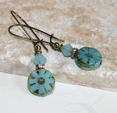 Hey, I found this really awesome Etsy listing at http://www.etsy.com/listing/164637932/aqua-picasso-earrings-picasso-bead