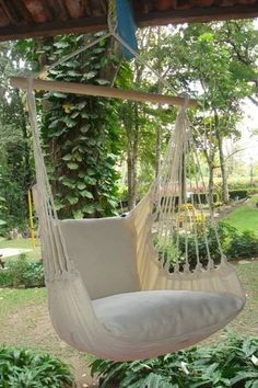 - Beautiful Extra Large Hammock Chair That is Mold and Fade Resistant - Artisan Hand Crafted Fabric to Last for Years of Enjoyment - Includes Two Matching Pillow Shams (Requires 2 Pillows to fill Backyard Hammock, Small Backyard Landscaping, Backyard Playground, Playground Ideas, Landscaping Ideas, Hammocks, Hammock Ideas, Hammock Tent, Cozy Backyard