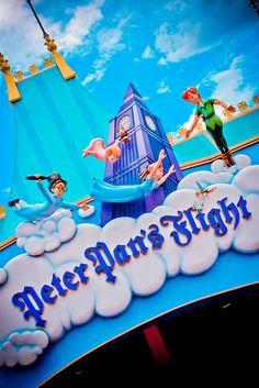 Fantasyland - Peter Pan's Flight, my second favorite dark ride (to Haunted Mansion, of course!)