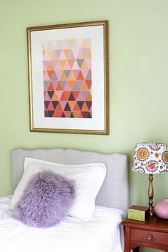 Paint chip wall quilt