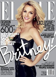 Britney On October 2012 Cover Of Elle Magazine