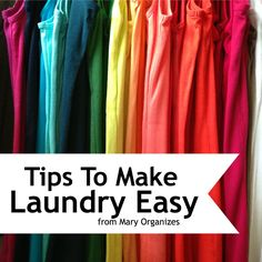 Tips To Make Laundry Easy