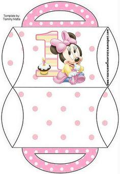 Cajitas Imprimibles de Minnie primer año. |Ideas para fiestas: Paps, ideas e imprimibles gratis OH MY FIESTA!