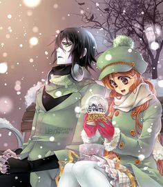 On a snowin day Ulqiorra and Orihime