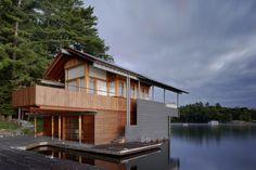 muskoka boathouse on lake muskoka in ontario from shim-sutcliffe architects