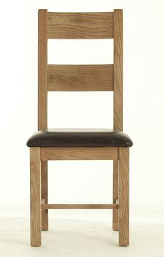 chunky oak chair pu atlas chunky oak hidden home office