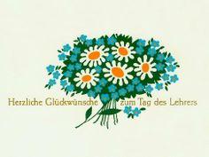 """Glückwunschkarte """"Tag des Lehrers"""". Copyright: DDR Museum, Berlin. Eine kommerzielle Nutzung des Bildes ist nicht erlaubt, but feel free to repin it!"""