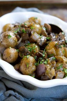 It is amazing how flavorful something so simple can be! These vegan gluten free Grilled Potatoes with Rosemary Mushrooms and Onions are proof of that.