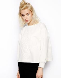 Pippa Lynn Quilted Neoprene Sweatshirt