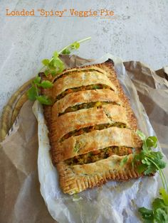 Learn how to make a delicious Veggie loaded pie with a cumin scented buttery crust & filling of spiced sauteed vegetables! Perfect comfort food!NaiveCookCooks.com#pie #veggie #meatless