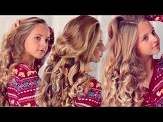 Heatless curls overnight using socks easy overnight curls, heatless cur Easy Overnight Curls, Heatless Curls Overnight, Easy Curls, Curly Hair Overnight, Heatless Waves, Bun With Curls, Curls No Heat, Curls For Long Hair, Bun Curls