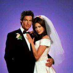 Ronn Moss as Ridge and Hunter Tylo as Taylor on The Bold and The Beautiful.