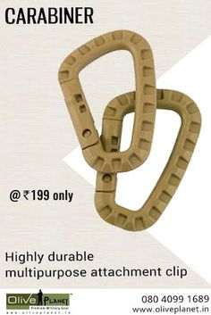 Buy High Quality Carabiners(multipurpose attachment clips) at best price On Olive Planet. Visit: http://www.oliveplanet.in/miscellaneous  #carabinersonline  #oliveplanetindia  #shopcarabinerindia