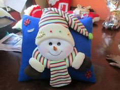 - Christmas And New Year, Christmas Ideas, Patch, Ideas Para, Christmas Stockings, Snowman, Santa, Felt, Gift Wrapping