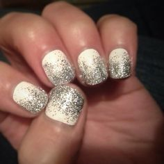 white with grey nail gel varnish<3<3<3<3<3