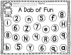 """FUN bingo dabber activities to teach letters, numbers, counting, and more! Common Core standards and kid-friendly """"I Can"""" statements included."""