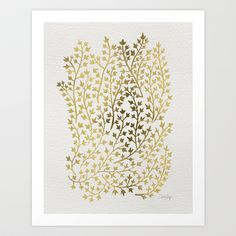 Gold+Ivy+Art+Print+by+Cat+Coquillette+-+$18.00