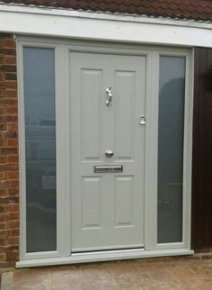 Not sure what composite door you want? Take a look at some of the beautiful comp… Not sure what composite door you want? Take a look at some of the beautiful composite door installations that Solidor has done and get inspired online here. Porch Design, House With Porch, Traditional Front Doors, Doors, Cottage Front Doors, House Front, Grey Front Doors, Composite Front Door, Garage Door Design