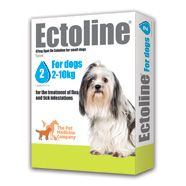 Ectoline 67mg spot-on solution for small dogs (for dogs 2-10kg)    £8.00