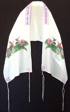 Silk+Tallit++Hibiscus+Design+by+DesertKippot+on+Etsy,+ ColorVibeDesigns.com ] #Tallit #scarf #design