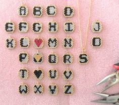 Sterling silver chain black heart Beads Personalized by LiBeadi