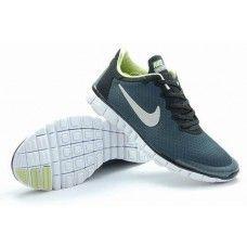 Autentisk Nike Free 3.0 V2 Mann SombreGrise Svart gul-grønn Hvit pris{0xsT1n}