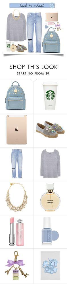 """""""Back to school"""" by giulialinton ❤ liked on Polyvore featuring Bebe, Dolce&Gabbana, French Connection, Violeta by Mango, Kate Spade, Chanel, Christian Dior, Essie, Ladurée and White Label"""