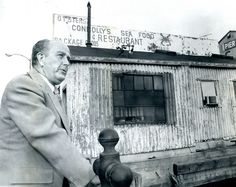 Two Baltimore greats...Mayor William Donald Schaefer and Connolly's Seafood restaurant on Pratt Street (Pier 5) in August 1974.  Schaefer was a good man for this city and Connolly's  was the best crab shack!
