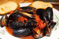 This version of Mussels Marinara was fresh and flavorful and only took a few minutes to make. The original recipe uses fresh mussels which I couldn't get in my neck of the woods so I just used two boxes of frozen thawed mussels without the sauce packet. Mussels Marinara, Mussels Seafood, Steamed Mussels, Fish Recipes, Seafood Recipes, Cooking Recipes, Mussel Recipes, Recipies, Brussel Sprouts With Pancetta