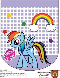 {free} printable My Little Pony Banner Rainbow Dash