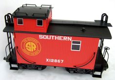 LGB G Gauge Caboose 45790 in red livery with 6 x LGB super lettering