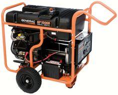 Generac 5734 GP15000E 15,000 Watt 992cc OHVI Gas Powered Portable Generator with Electric Start for sale