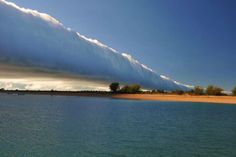 The morning glory cloud forms over Sweers Island, Gulf of Carpentaria, Australia on 13/8/13