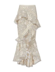 Zimmermann Lace-Up Embroidered Skirt