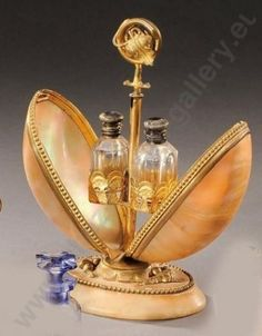 Necessary for perfumes mother of pearl and gilt bronze - xixth century france