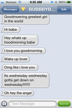 Cute good morning text messages for your boyfriend