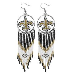 New+Orleans+Saints+Dreamcather+Dangle+Earrings