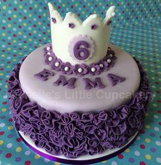 Pretty purple princess cake for a 6th birthday!