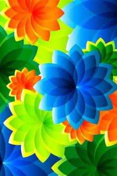 blue ~ green ~ orange