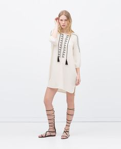 EMBROIDERED TUNIC-View all-Dresses-WOMAN | ZARA United States
