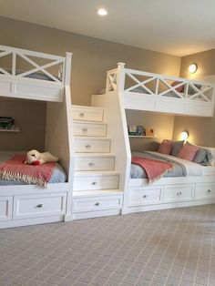 "Excellent information on ""modern bunk beds for girls& rooms"" . - Excellent information on ""modern bunk beds for girls& rooms"" Excellent inf - Bunk Beds For Girls Room, Bunk Bed Rooms, Bunk Beds Built In, Modern Bunk Beds, Built In Beds For Kids, Girl Bedrooms, Custom Bunk Beds, Bunk Beds With Stairs, Shared Bedrooms"