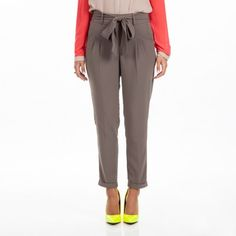Tapered Tie Waist Pant