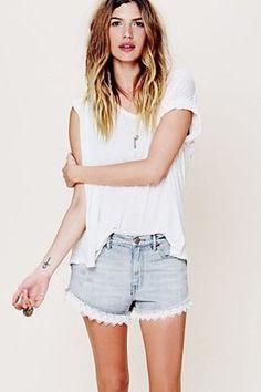 www.helloluvvy.com Free People Inspired Denim Shorts DIY