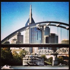 Downtown Nashville TN. Lunch by boat! Yayy looking forward to this time with my man!! TF
