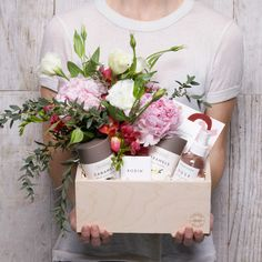 Blooming Box | Simone LeBlanc Valentine's Day Gift with Fresh Flowers