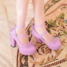Lolita Pastel Corset Heels