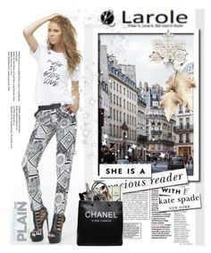 """""""Larole3"""" by elmaimsirovic ❤ liked on Polyvore featuring Kate Spade, Chanel and larole"""